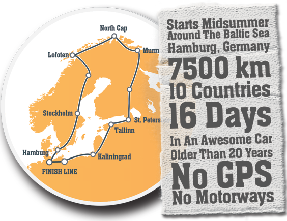 Route Baltic Sea Circle Rallye