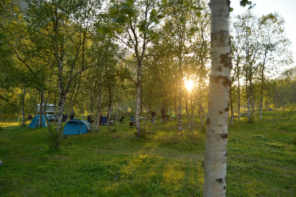Sonnenaufgang um 23:30 in Norwegen